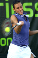 Flavia Pennetta in Miami playing doubles in the year 2008