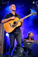 Belgian Singer Milow performs at a concert during Gerry Weber Open 2014.